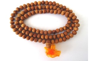 White sandalwood prayer mala