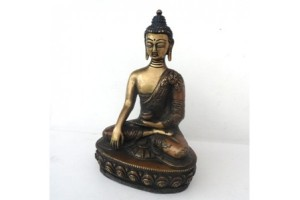 Brass Buddha with bronze antique finish