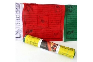 Horizontal prayer flags, Polyester
