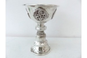 Silver plated Butter Lamp 12cm