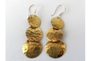 Silver and brass earrings