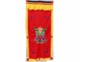 Red Garuda Embroidered on door curtain