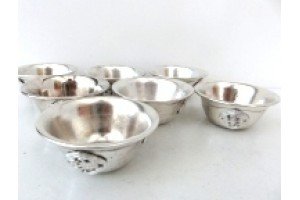 6.5cm Silver plated offering bowls