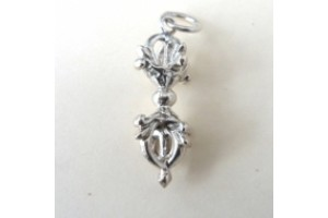 Silver plated white metal Vajra pendant