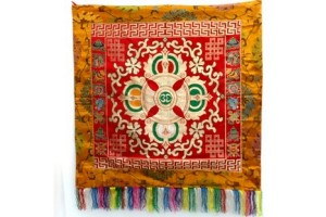 Double Vajra Brocade Red