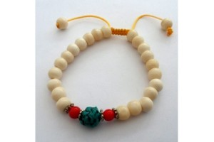 White Bone with Turquoise Bracelet