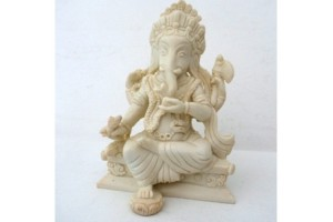White Resin Ganesh